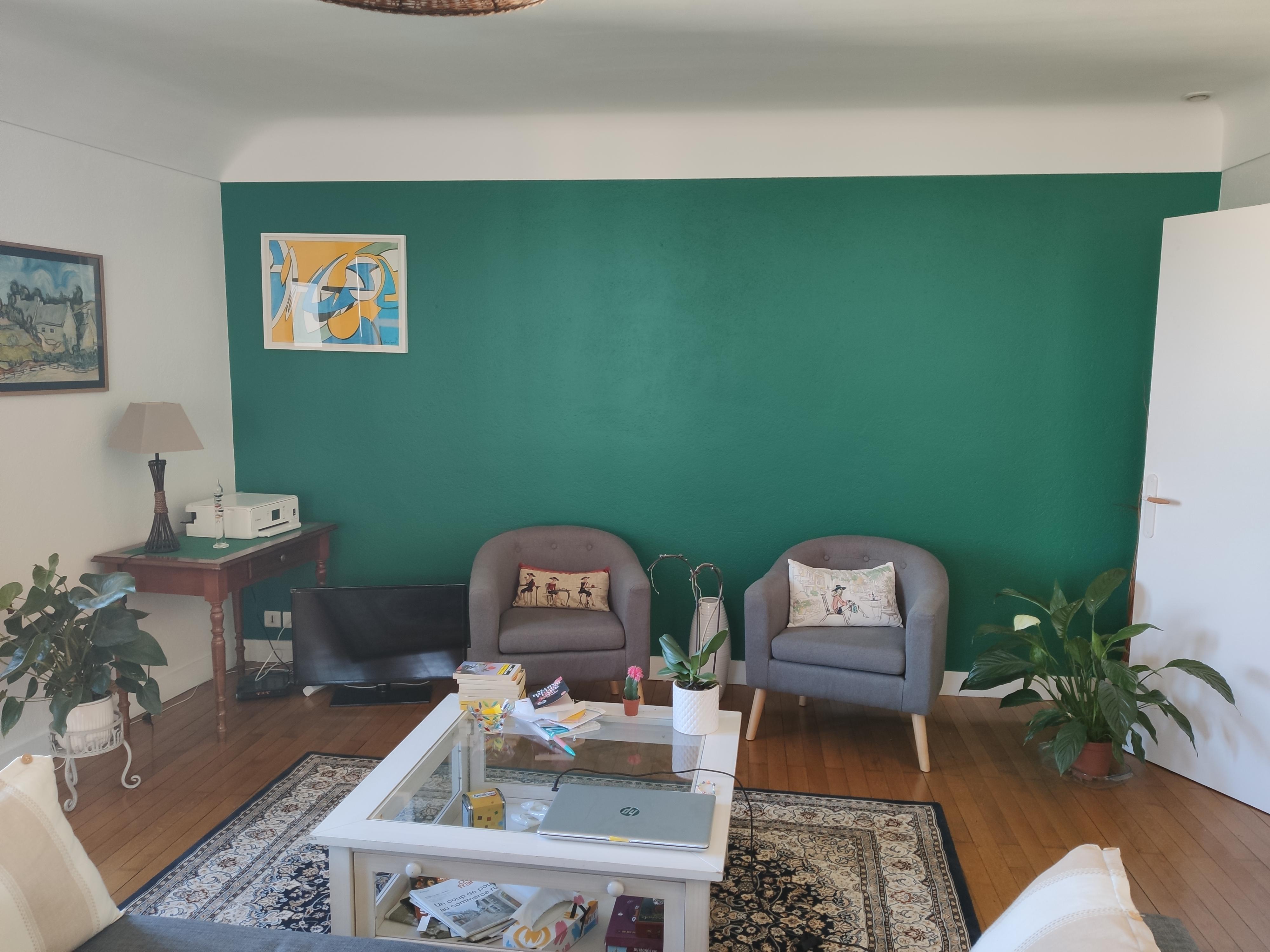 Decoration Et Peinture Salon décoration peintures de salon et de séjour exemples photos
